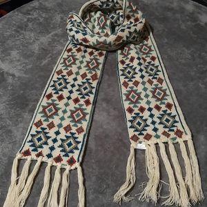 Boho Aztec Double Knit Scarf
